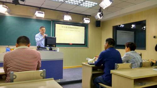 五绝指针技术传承人张剑锋老师在保定讲课